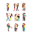 happy family couples in love wedding people vector image