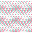 hearts linked background seamless vector image vector image