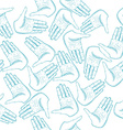 Human Hands Palm Seamless Pattern vector image vector image