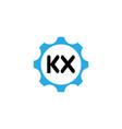 initial letter logo kx template design vector image