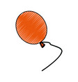 isolated balloon cartoon vector image vector image