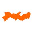 Map of Pernambuco vector image vector image