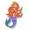 mermaid or siren with tail character vector image vector image