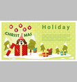 Merry Christmas Greeting background with dog vector image
