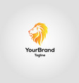 modern lion logo template vector image vector image