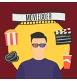 Moviegoer vector image