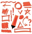 Orange Marker Isolated Set of Graphic Signs vector image