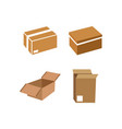 packaging box icon design template isolated vector image vector image