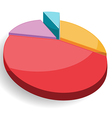 Pie Graph Chart Colorful vector image vector image