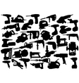power tool silhouettes vector image vector image