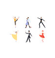 professional dancers dancing classical and modern vector image