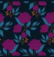 purple flowers and blue leaves in an autumn vector image vector image