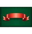 Red ribbon green vector image vector image