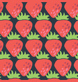 red strawberries seamless pattern retro vector image vector image