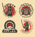 samurai warrior prints vector image