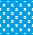 scroll pattern seamless blue vector image vector image