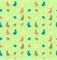 seamless pattern with easter rabbits and birds vector image vector image
