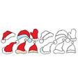 set doodle christmas hats vector image vector image
