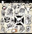 skull tattoo set vector image