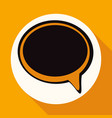 speech bubbles on white circle with a long shadow vector image