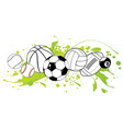 sport balls on color background vector image vector image