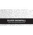 square pattern set silver snowfall seamless tile vector image vector image