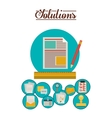 strategy and solutions design vector image vector image