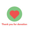 thank you for donation vector image