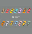 top view parking zone vector image vector image