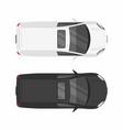 top view two minivan cars vector image vector image