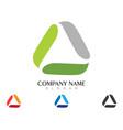 triangle logo template icon design vector image vector image