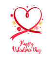 valentine day greeting card vector image vector image