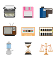 Vintage equipment icon set vector image vector image