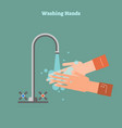 washing hands healthy vector image vector image