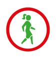 woman icon walk lady black symbol vector image vector image