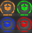 Open box icon Fashionable modern style In the vector image