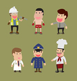 cartoon of Group of People in different Occupation vector image