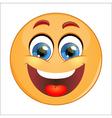 Smiling emoticon vector image