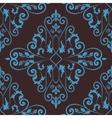 Floral damask seamless pattern background vector image