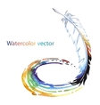 Abstract watercolor pen vector image vector image