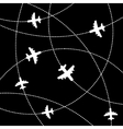 Airplanes Background with Trajectory vector image vector image