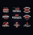 american football team college badges logos vector image vector image