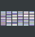 bright shine holographic swatches vector image vector image