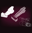 camera on burgundy vector image