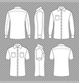 casual mans blank outline shirts with short and vector image