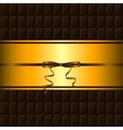 chocolate bar and gold border vector image