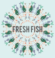 circular repetitive pattern of colorful fish vector image vector image