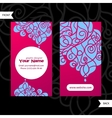 Colorful decorative design of business card with vector image vector image