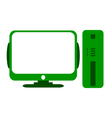 Computer symbol icon on white vector image