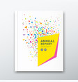 cover annual report colorful paper design on white vector image vector image